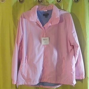 New 1x pink jacket Lands End